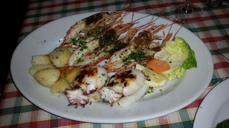 Venice Italy Calamari and Prawns