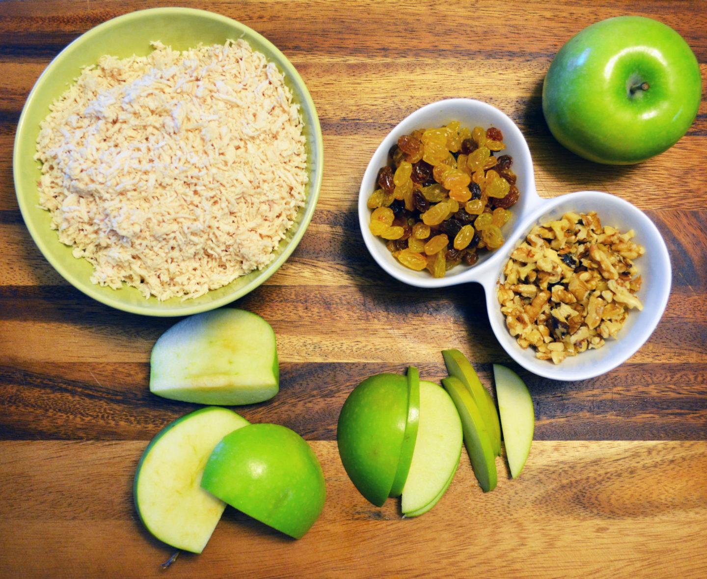 Chicken Salad with Granny Smith Apples, Golden Raisins & Walnuts